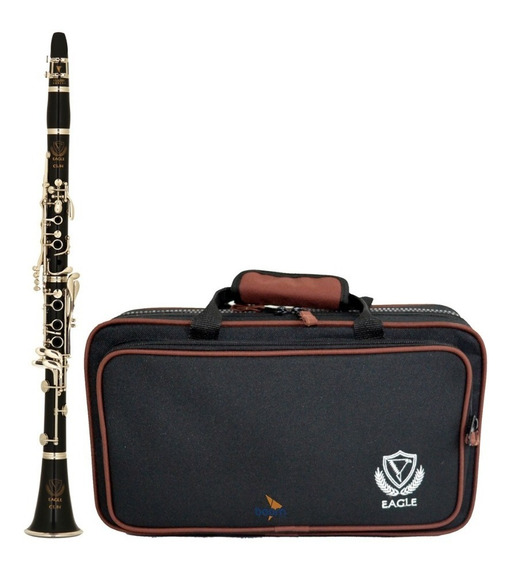 Clarinete Profissional Eagle Cl04n Sib 17 Chaves Case Bag