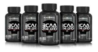 Combo 5x Bcaa 2400 (30 Tabletes) - Black Skull
