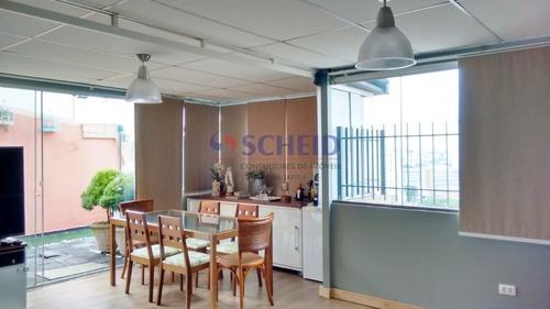 Cobertura À Venda Com Três Dormitórios, Na Vila Mascote ! - Mc8357