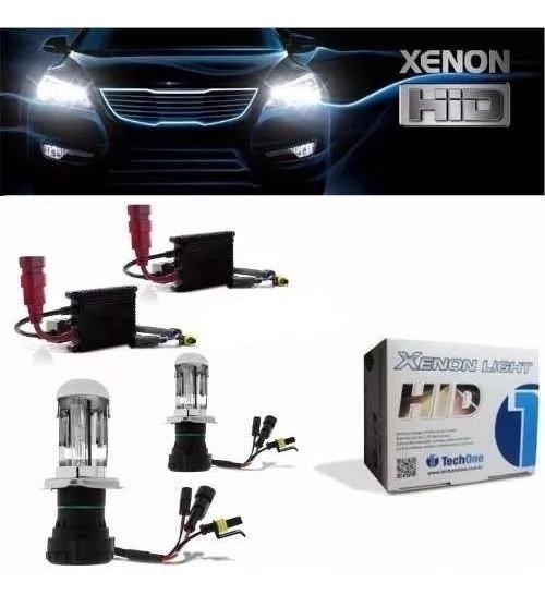 Xenon Bi Xenon Hid 8000k H4-3 Tech One Completo Kit
