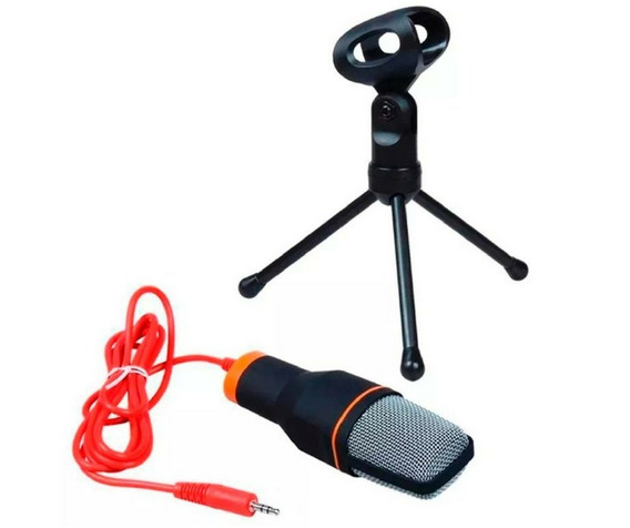 Microfone Condesador De Mesa Com Tripe Profissional