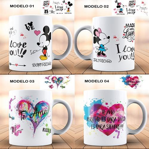 Imagen 1 de 10 de Tazas Romanticas San Valentin 14 Febrero Varios Diseños