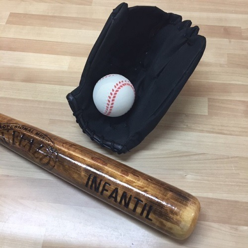 Imagen 1 de 6 de Combo Juego Infantil Beisbol Bat-manopla-pelota