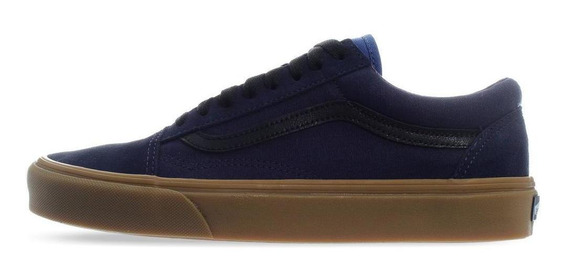 Tenis Vans Old Skool - 4bv5v4r - Azul Marino - Hombre