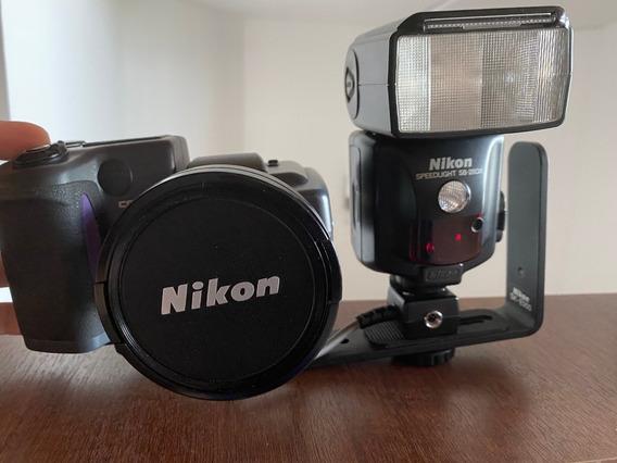 Nikon Coolpix 995 + Lente+soporte+flash+funda+memorias