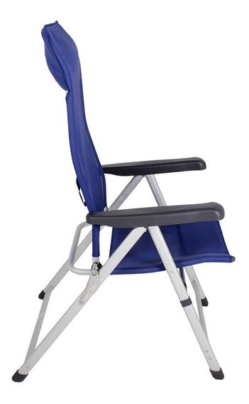 Cadeira Alumínio Textilene Piscina Jardim Varanda Leysin