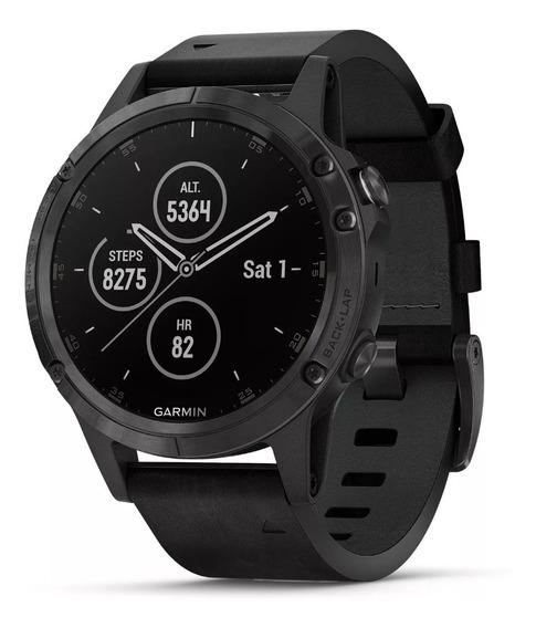 Relógio Garmin Fênix 5 Plus Edição Especial.sapphire/leather