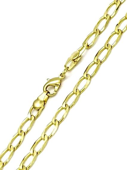 Corrente Cordão Masculino Grumet 70cm Banho De Ouro 18k 3521
