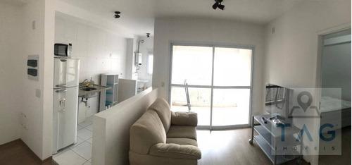 Imagem 1 de 30 de Apartamento Mobiliado Para Aluguel No Cambuí Em Campinas - Sp. - Ap1204