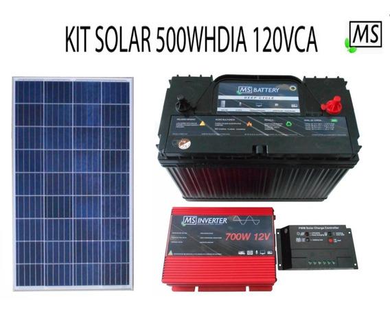 Kit Solar Fotovoltaico 500w Hdia 120v Aislado Rural Ahorro