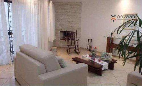 Sobrado Com 4 Dormitórios À Venda, 305 M² Por R$ 1.591.000 - Paraíso - Santo André/sp - So0448
