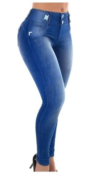 Calça Jeans Lycra Pit Bul Bojo Removível Aumenta Bumbum
