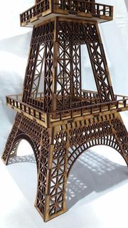Torre Eiffel 40 Cm. Mdf Fibrofacil Corte Laser Promo