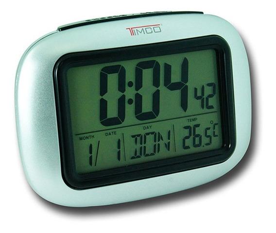 Despertador Con Luz, Temperatura Y Calendario 13 Cm Dd-p