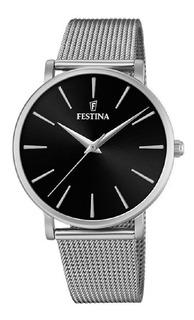 Reloj De Mujer Festina Malla Tejida F20475 Garantía Oficial