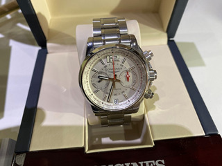 Longines - L3.666.4.76.6 Admiral Chronograph Silver