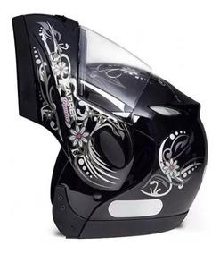 Capacete Taurus Bullitz Zarref Feminino Robocop Escamoteável
