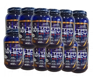 10x Ultra Whey Wey Protein Proteina Isolate 900g Envio 24h