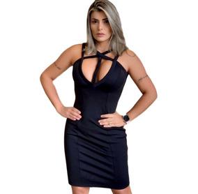 aaa4af244 Vestido Justo Curto Sexy Festa Top Lança Perfume