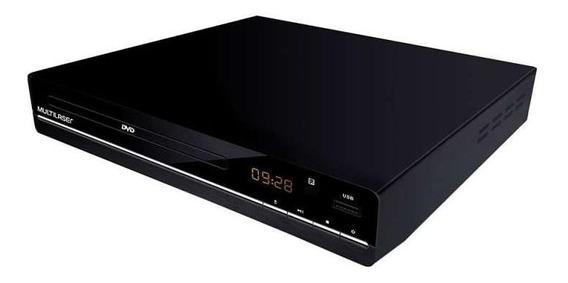 Dvd Player 3 Em 1 Multimídia Usb Multilaser Preto - Sp252