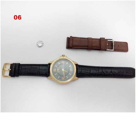 Relógio Masculino Dourado Super Barato + Brinde 12x S/j