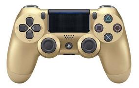 Controle Ps4 Sony Dourado Sem Fio Dualshock 4 Nacional