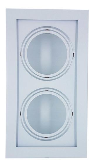 Plafon Spot Embutir P/2 Lâmpadas Ar111 Branco - Vr 4403/2