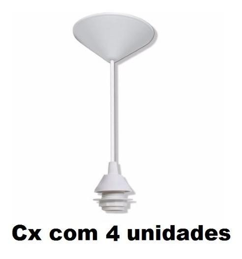 4 Fios Pendente Branco Completo Soquete E27 Luminária Lustre