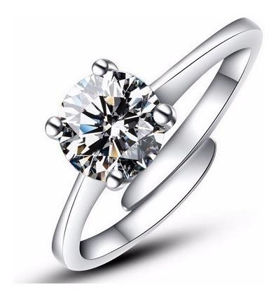 Anel Aliança Ouro Noiva Namoro Solitario Prata Pedra