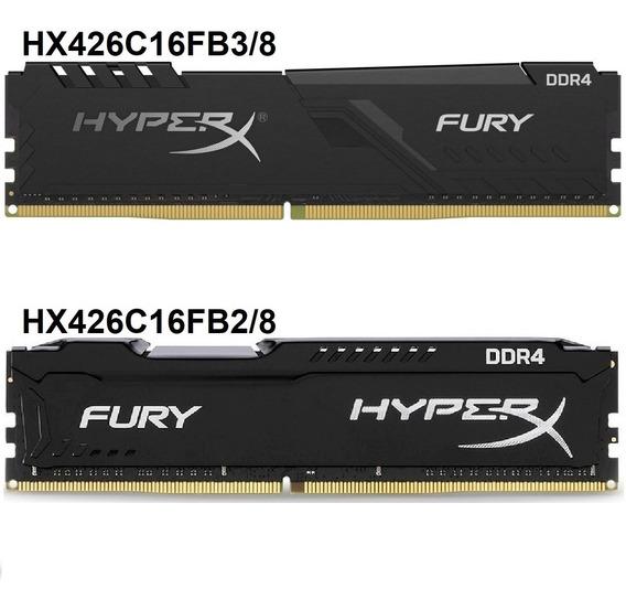 Memória Kingston Ddr4 8gb 2666mhz Hyperx Fury Pc Gamer