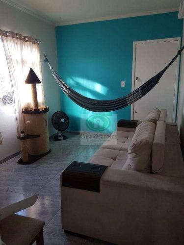 Imagem 1 de 17 de Apartamento Com 1 Dormitório À Venda, 77 M² Por R$ 159.000,00 - Jardim Independência - São Vicente/sp - Ap6615