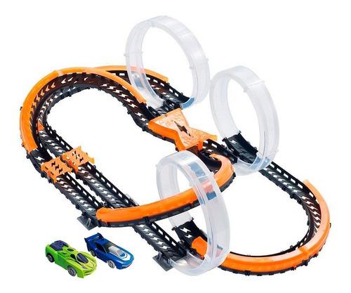 Imagem 1 de 4 de Hot Wheels Pista Wave Racers Triple Skyloop - Fun Original
