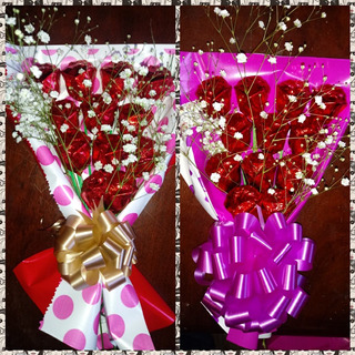 Ramo De 12 Rosas De Chocolate Rellenas Con Dulce
