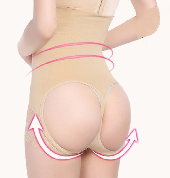 Short/cinta Calcinha Modela Levanta Bumbum Cintura Abdômen