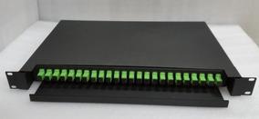 Distribuidor Optico Dio 24 Fibras C/ Bandeja E Painel P/rack