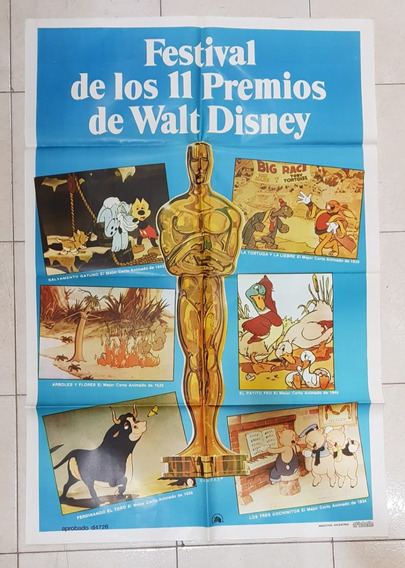 Antiguo Afiche De Cine Festival Walt Disney- Envio Gratis