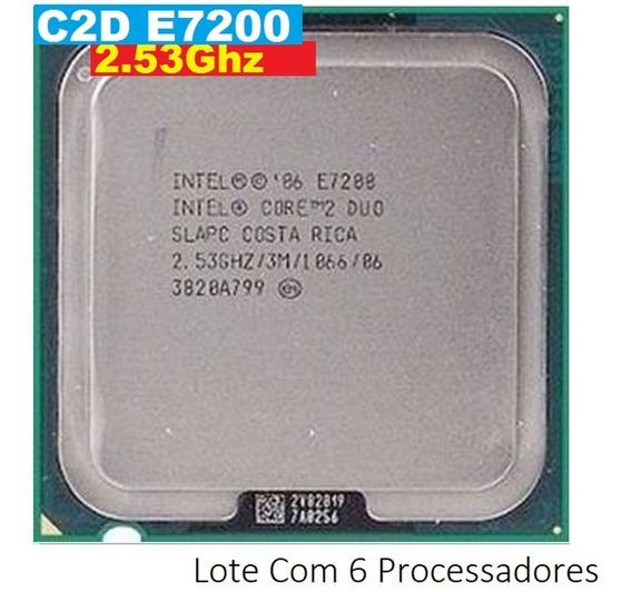 Lote Com 6 Processador Core 2 Duo E7200 2,53 Ghz 1066mhz 775