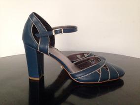 Sapato Em Couro Feito À Mão Tam 39