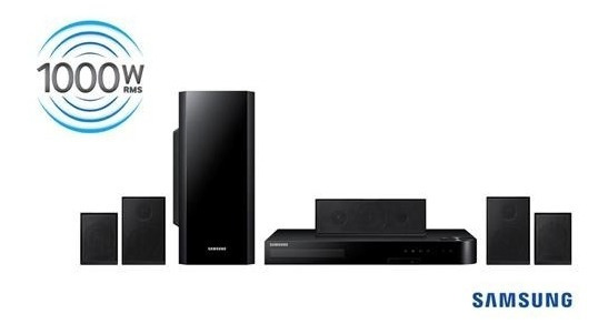 Home Theater Samsung Ht-j5100k 1000w 5.1 Canais Blu-ray Dvd