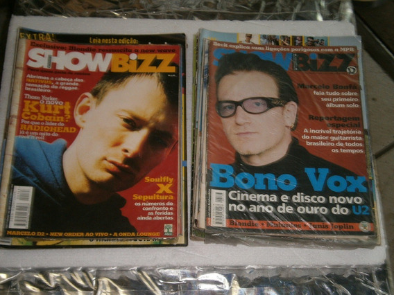 Show Bizz 20 Revistas Por R$ 60,00