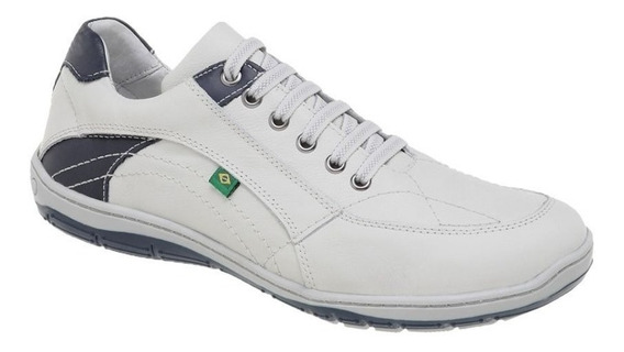 Sapato Tênis Sapatenis Azimute Brasil 5001 Casual Em Couro