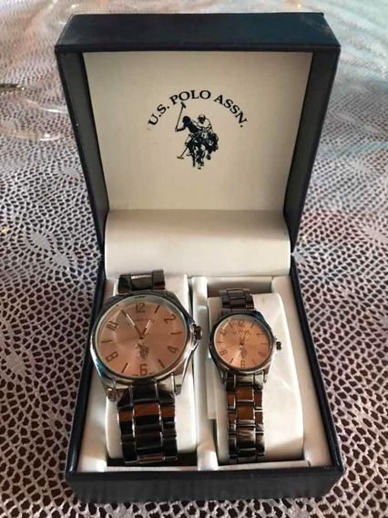 Relógios De Casal Marca U.s Polo Assn. Original Na Caixa.