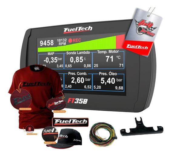 Ft350 Fueltech C/ Chicot+ Mega Brindes Camiseta Bordo Gel Bp
