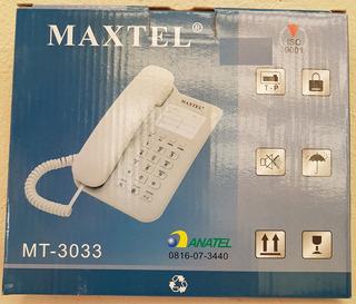 Telefone De Mesa Maxtel Mt-3033