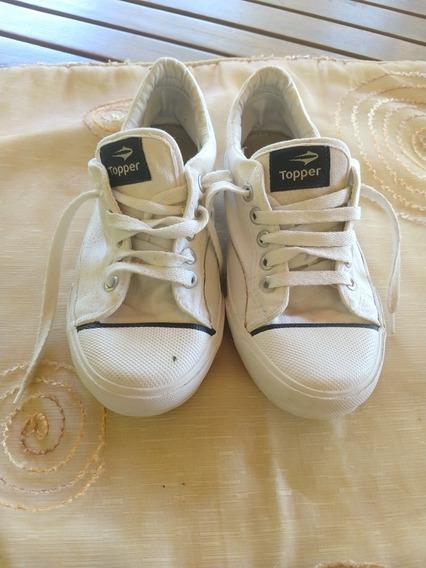 Zapatillas Blancas Topper Clásicas Niño