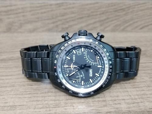 Relógio Timex Iq Aviator Fly-back Cronógrafo T2p103