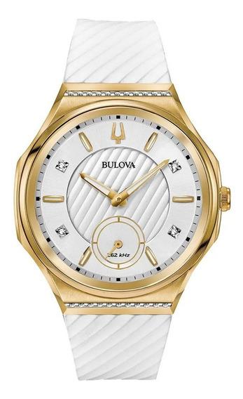Relógio Bulova Curv Diamond Feminino 98r237 + Nfe + Garantia