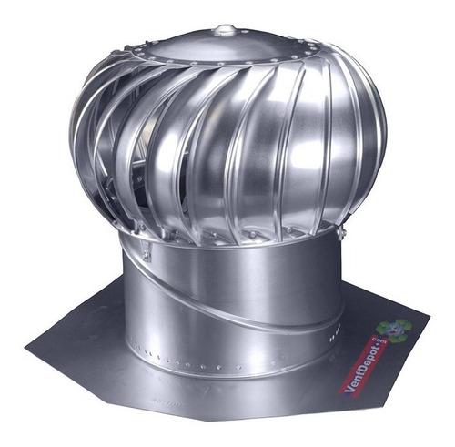 Imagen 1 de 3 de Extractor Eolico De Aluminio, Mxete-001, 17 Turbina, 14 Ø G