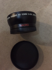 Lente Grande Angular Digital Visions Hd 52mm 0.45x Japan Opt