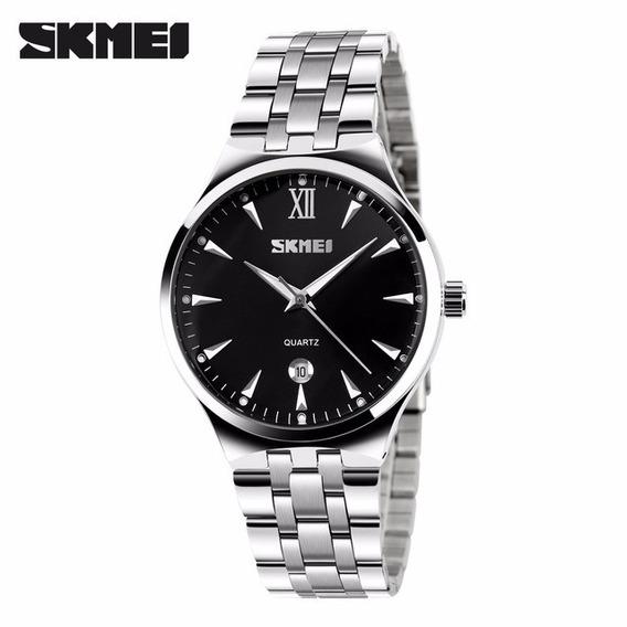 Relógio Feminino Skmei Analógico 9071 Wr30m - Preto